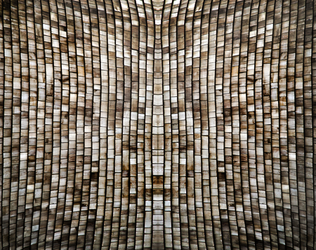abstract background from wood roof top arranging Stock Photo