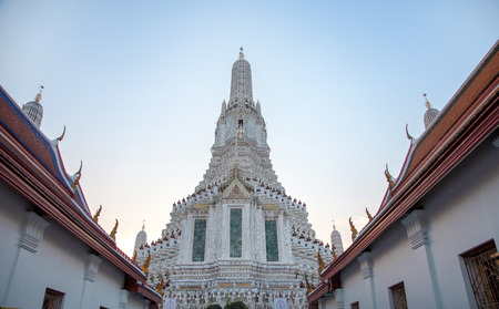 exterior old temple names Arun-Amarin the rayal temple in history of Thailand. destination of Bangkok Thailand