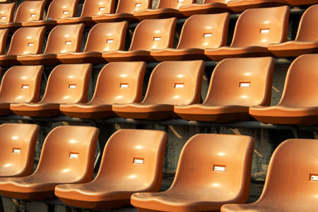 empty seat on stadium for sport fan club or concert on day light Imagens