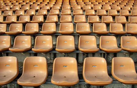 empty seat on stadium for sport fan club or concert on day light Zdjęcie Seryjne