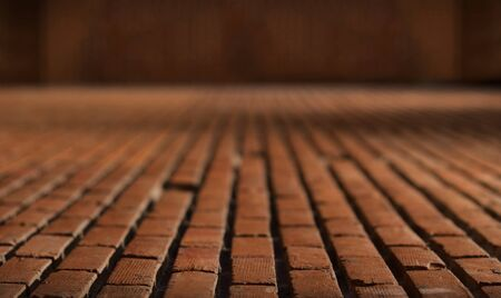 old red brick floor pattern material for background Zdjęcie Seryjne