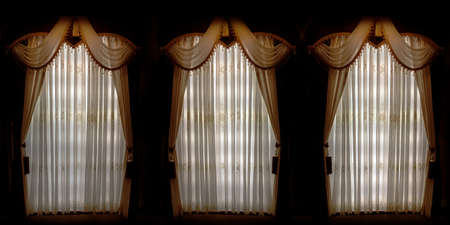 close curtain vintage door with from inside background