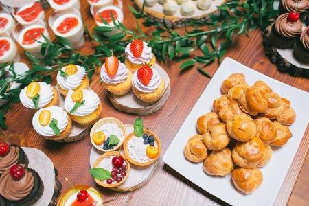 choux: Wedding candy bar, choux pastries Stock Photo