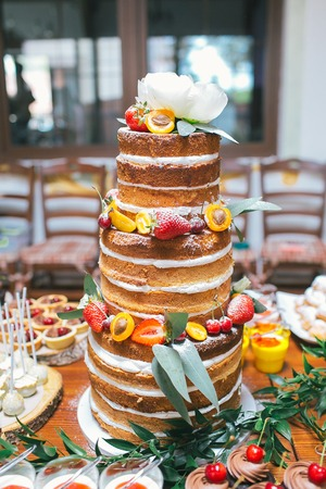 Wedding candy bar, wedding cake