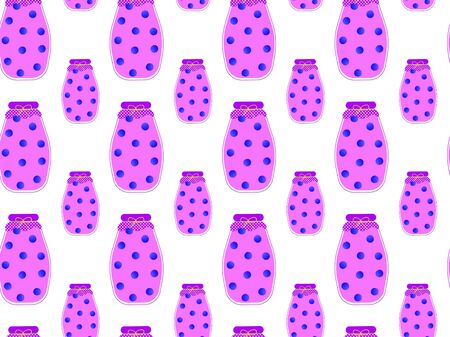 Blueberry pattern Vector. Illustration