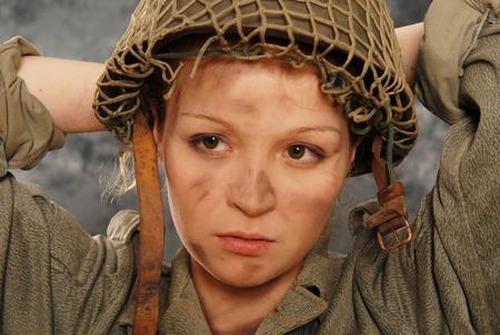 pretty soldier woman photo