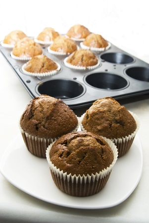 Gingerbread muffins in cups Stock Photo - 13498596