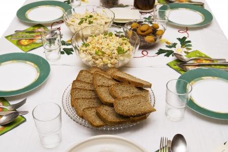 Festive table for Christmas . photo