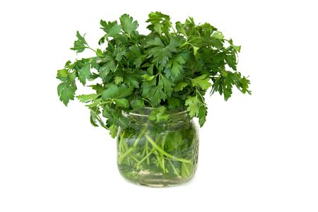 Isolated Parsley in Jar
