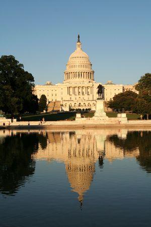 veto: Capitol with reflective pool Stock Photo