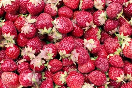 Bunch of fresh strawberries - closeup