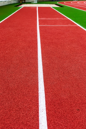 long jump: Running track for athletics and sport