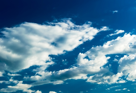 stratus: Blue sky with stratus clouds
