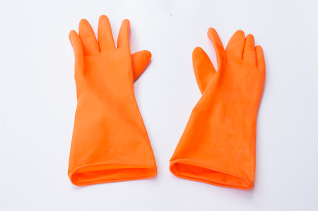 rubber gloves: one pair of rubber gloves