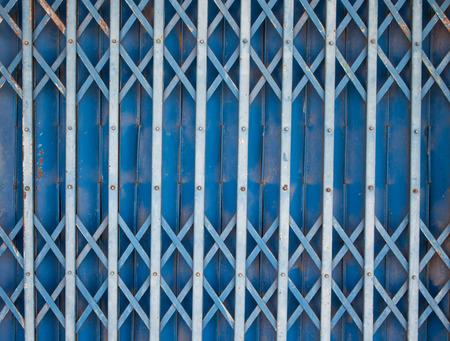 handle bars: steel slide door, blue