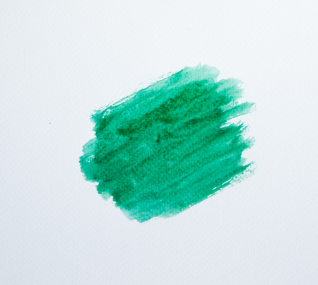 water stained: Abstract green watercolor background Stock Photo