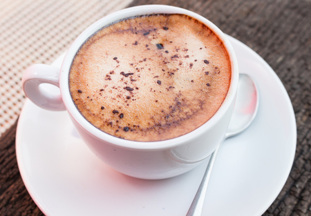 morning coffee: Hot coffee for break time