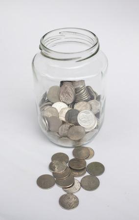 money box: Coins in money box