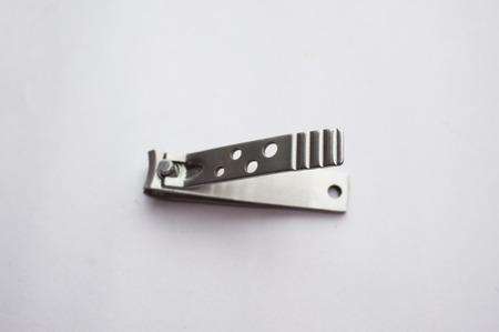 clipper: Nail clipper on white background