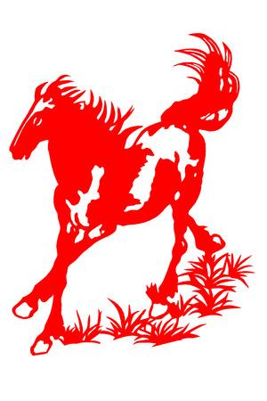 A paper cut for a horse