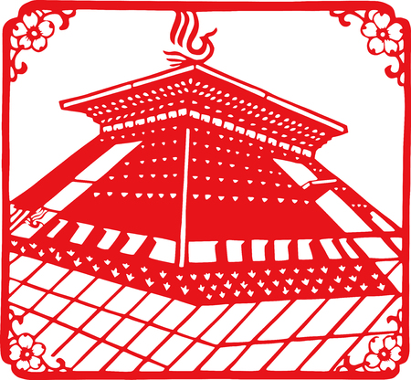 Auspicious paper cut patterns
