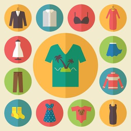 calcetines: Iconos de ropa, elementos de compras, dise�o plano vector Vectores