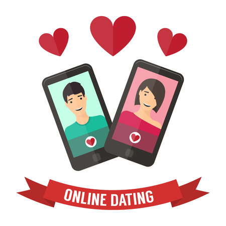 Internet dating online flirt and relation. Mobile service, application.