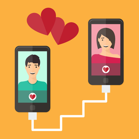 internet dating: Internet dating online flirt and relation. Mobile service, application.