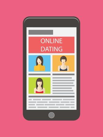 flirt: Internet dating, online flirt and relation. Mobile service, application