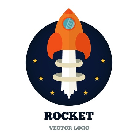 Start upStart up logo for new business, ideas, innovation and development. Rocket flying vector 版權商用圖片 - 42140037
