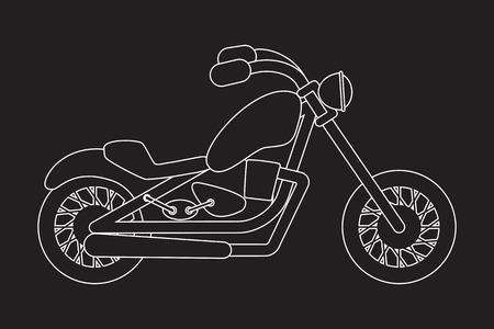 mono: Motorcycle linear pictogram. Vector mono line style icon