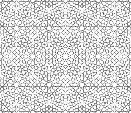イスラムの装飾パターン。アラビア スタイルのシームレスな幾何学的な背景  イラスト・ベクター素材