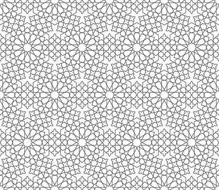 Islamic ornament pattern. Seamless geometric background in arabian style