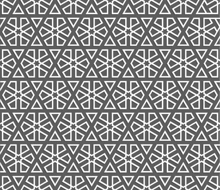arabian: Islamic pattern. Seamless geometric background in arabian style