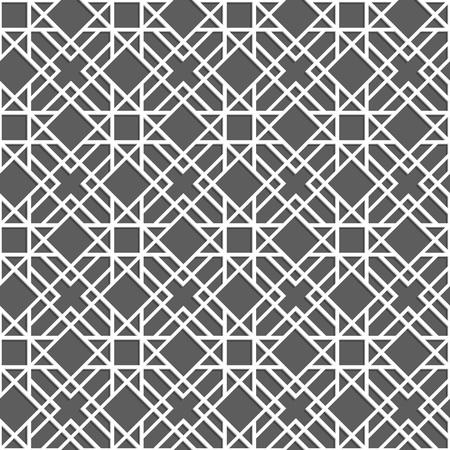 style geometric: Ethnic white pattern. Seamless geometric background in arabian style