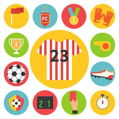 soccer shoes: Football set. Soccer football icons Vector illustration.