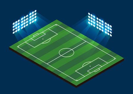 soccer stadium: Soccer Football Field. Stadium with light. Vector illustration Illustration