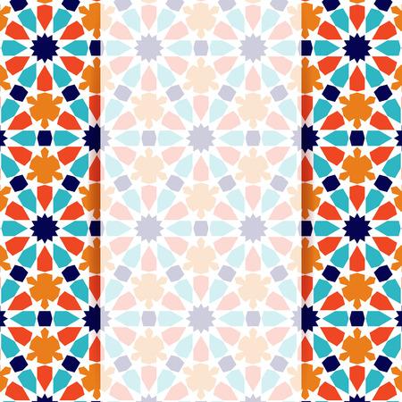 Islamic pattern. Greeting card in islamic design. Vector invitation background in islamic style