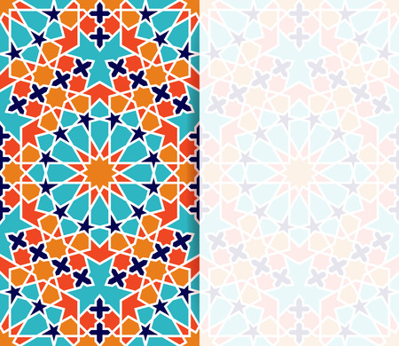 Islamic pattern. Greeting flyer in islamic design. Vector invitation background in islamic style Stock Illustratie