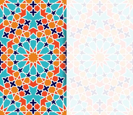 Islamitisch patroon. Groet flyer in islamitische design. Vector uitnodiging achtergrond in islamitische stijl Vector Illustratie