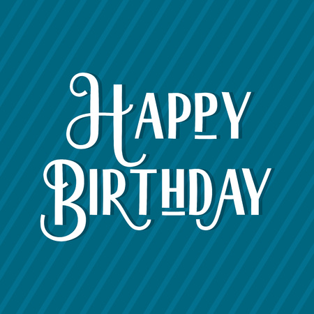 scripts: Happy Birthday lettering illustration. Birthday greeting card