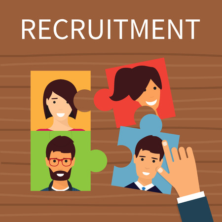 recruiting: Human resources, recruiting concept