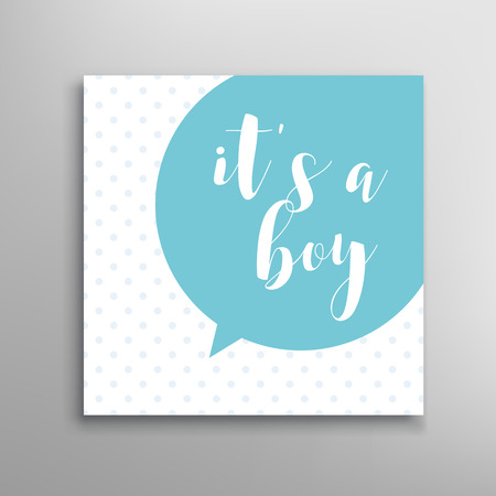 baby blue: Its a boy lettering. Baby shower invitation