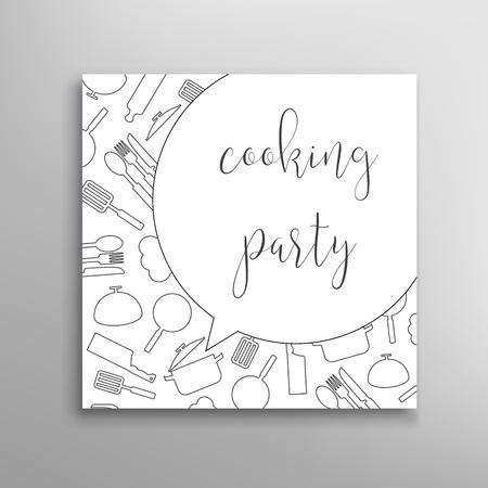 kulinarne: Gotowanie Strony zaproszenie. Kulinarne szkoły szablon wektora