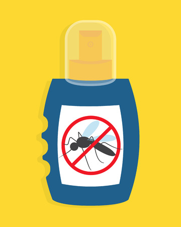 repellent: Mosquito free spray. Insects repellent vector bottle Illustration