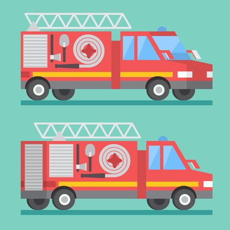 accident fire truck: Fire rescue truck. Firefighter department. transport car