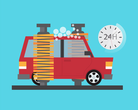 carwash: Car service. Auto wash and transport cleaning