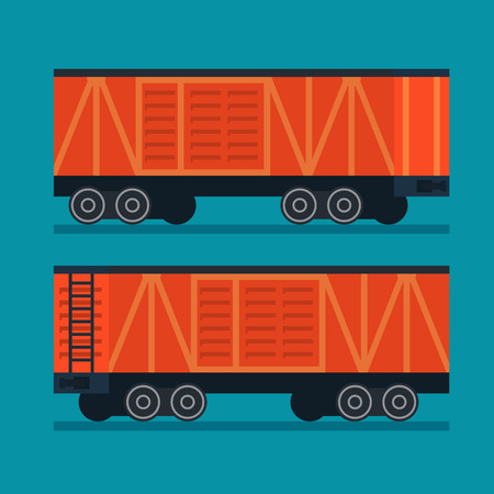 goods station: Freight train. Cargo transportation logistic Illustration