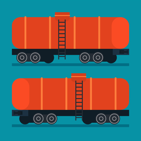freight transportation: Freight train. Cargo transportation logistic Illustration