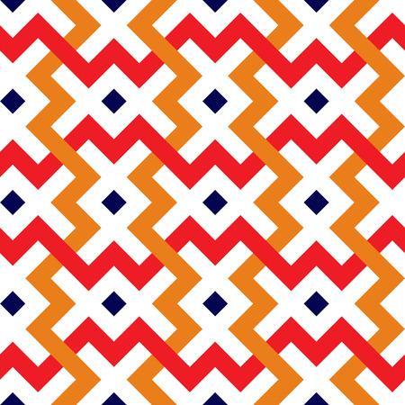 Interlaced white geometric pattern. Interlocking seamless vector background. Illustration